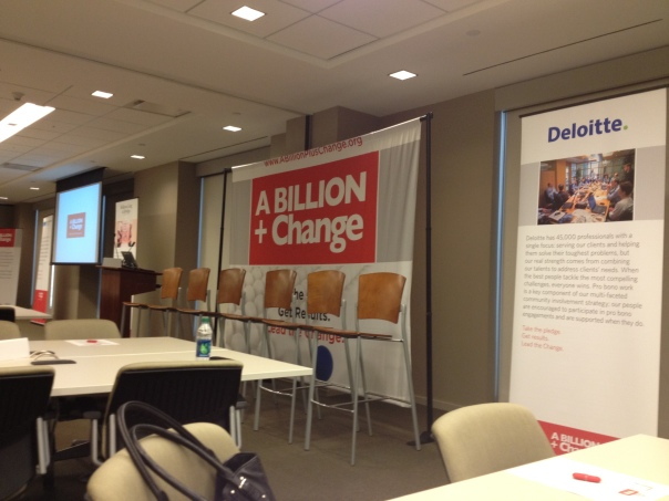 A Billion + Change conference was hosted by Deloitte in downtown Atlanta