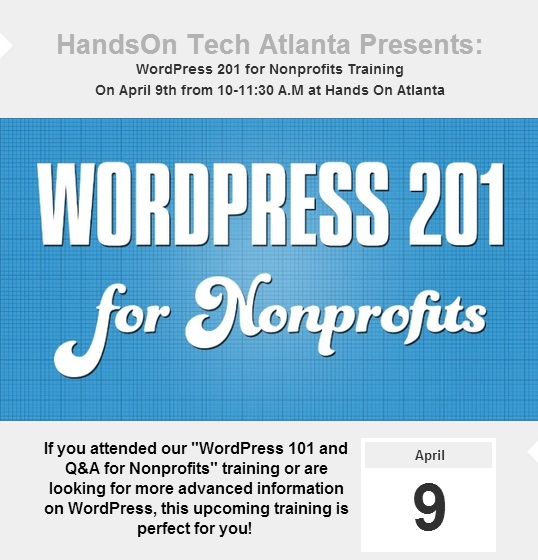 WordPress 201 for Nonprofits Picture